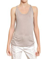 Jil Sander | Natural Viscose Silk Jersey Tank Top | Lyst
