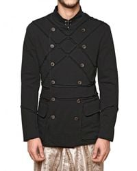 John Galliano | Black Cotton Jersey Colonial Sport Jacket for Men | Lyst