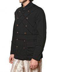 John Galliano - Black Cotton Jersey Colonial Sport Jacket for Men - Lyst
