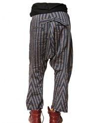 John Galliano | Blue Striped Linen Canvas Trousers for Men | Lyst