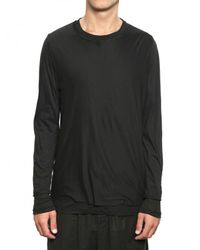 Kris Van Assche - Black Raw Cut Jersey and Ribbed Cotton T-shirt for Men - Lyst