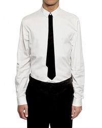 Kris Van Assche - White Stitched Tie Cotton Poplin Shirt for Men - Lyst