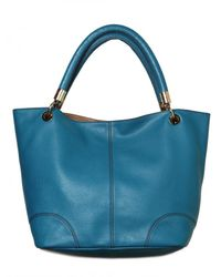 Lancel | Blue French Flair Grained Leather Tote | Lyst
