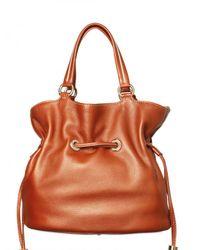 Lancel - Orange Premiere Flirt Grained Leather Shoulder - Lyst
