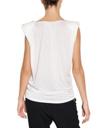 Lanvin - White Viscose Jersey Top - Lyst