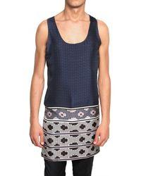Lanvin | Blue Kaleidoscope Silk Top for Men | Lyst