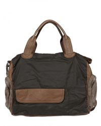Liebeskind | Brown Suede and Nylon Shoulder Bag | Lyst