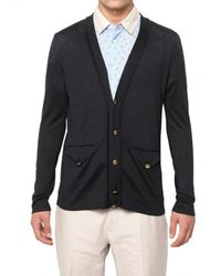 Marc Jacobs - Blue Silk Knit Cardigan Sweater for Men - Lyst