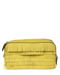 Marc Jacobs - Yellow Suzie Fringed Leather Clutch - Lyst