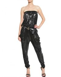 MICHAEL Michael Kors | Black Sequined Jumpsuit | Lyst