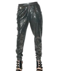 MICHAEL Michael Kors | Gray Paneled Jersey Skinny Pants | Lyst