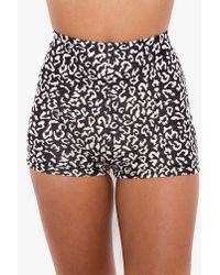 Nasty Gal | Black Animalistic Tap Shorts | Lyst