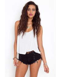 Nasty Gal | Roller Cutoff Shorts - Jet Black | Lyst