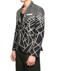 Neil Barrett | Black Abstract Chevron Cotton Jacket for Men | Lyst