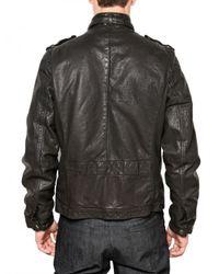 Neil Barrett   Black Bufalo Leather Jacket for Men   Lyst