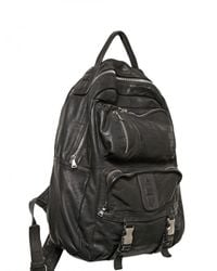 Neil Barrett | Black Three Pocket Washed Leather Backpack for Men | Lyst