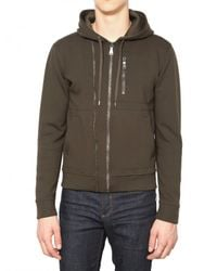 Neil Barrett | Green Double Zipped Fleece Sweatshirt for Men | Lyst