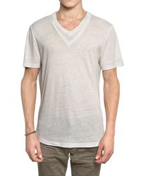 Neil Barrett | White Double V-collar Jersey T-shirt for Men | Lyst