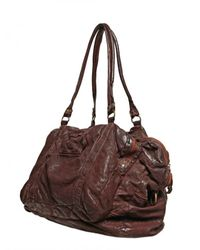 Officine Creative | Brown Washed & Distressed Leather Bag for Men | Lyst