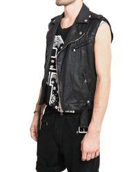 Balmain - Black Waxed Cotton Gabardine Kiodo Vest for Men - Lyst