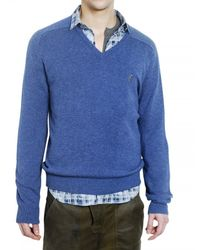 Pringle of Scotland | Blue Lambswool Knit Sweater for Men | Lyst