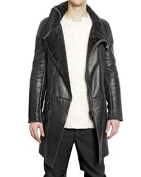 Pringle of Scotland | Gray Shearling Leather Jacket for Men | Lyst