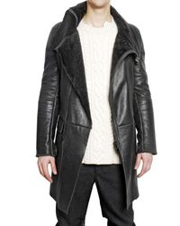 Pringle of Scotland - Black Shearling Leather Jacket for Men - Lyst