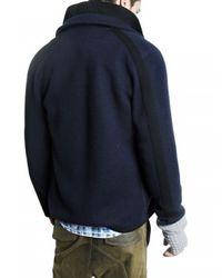 Pringle of Scotland | Blue Knit Wool Pea Coat for Men | Lyst