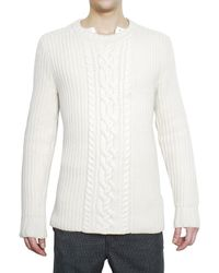Pringle of Scotland | White Cashmere and Wool Woven Knit Sweater for Men | Lyst
