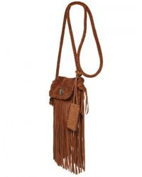 Ralph Lauren - Brown Suede Fringe Shoulder Bag - Lyst