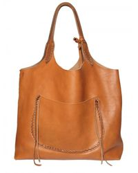 Ralph Lauren | Brown Stitched Leather Tote | Lyst