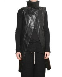 Rick Owens - Black Calfskin Vest for Men - Lyst