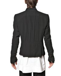 Rick Owens - Black Silk Georgette On Silk Twill Short Jacket for Men - Lyst