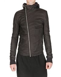 Rick Owens | Black Veil Baby Calf Scuba Leather Jacket for Men | Lyst