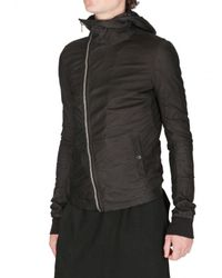 Rick Owens - Black Veil Baby Calf Scuba Leather Jacket for Men - Lyst