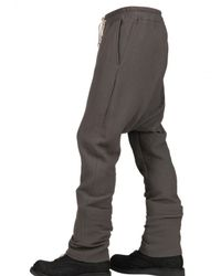 Rick Owens | Gray Wool Crepe Trousers for Men | Lyst