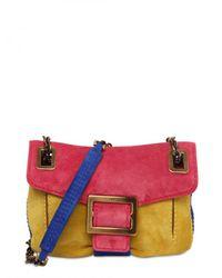 Roger Vivier | Multicolor Metro Micro Suede Shoulder Bag | Lyst