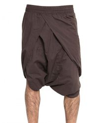 Silent - Damir Doma | Purple Cotton Poplin Sarong Shorts for Men | Lyst