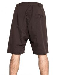 Silent - Damir Doma | Brown Cotton Poplin Shorts for Men | Lyst