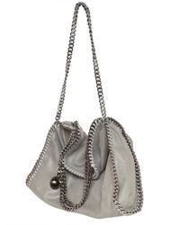 Stella McCartney | Gray Falabella Chain Eco Leather Shoulder Bag | Lyst