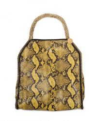 Stella McCartney | Yellow Falabella Large Eco Python Shoulder Bag | Lyst