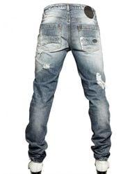 Tom Rebl | Blue Destroyed Denim Jeans Jeans for Men | Lyst