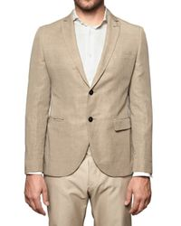 Tonello - Natural Linen Canvas Jacket for Men - Lyst
