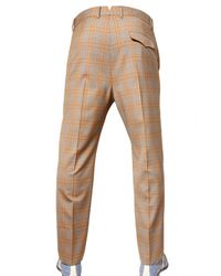Vivienne Westwood   Beige 19cm Checked Wool Trousers for Men   Lyst