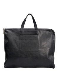 Ai_ | Black Hide Leather Satchel | Lyst