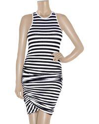 A.L.C. - Blue Striped Stretch-jersey Tank Dress - Lyst