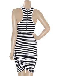 A.L.C. | Blue Striped Stretch-jersey Tank Dress | Lyst