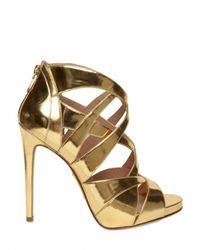 Alejandro Ingelmo | Metallic 120mm Mirrored Gold Cage Sandals | Lyst