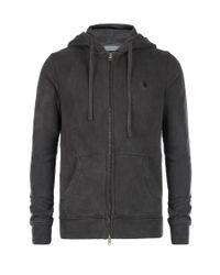 AllSaints | Black Fox Zip Up Hoodie for Men | Lyst
