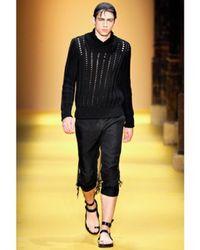 Ann Demeulemeester - Black Calfskin Belted Sandals for Men - Lyst